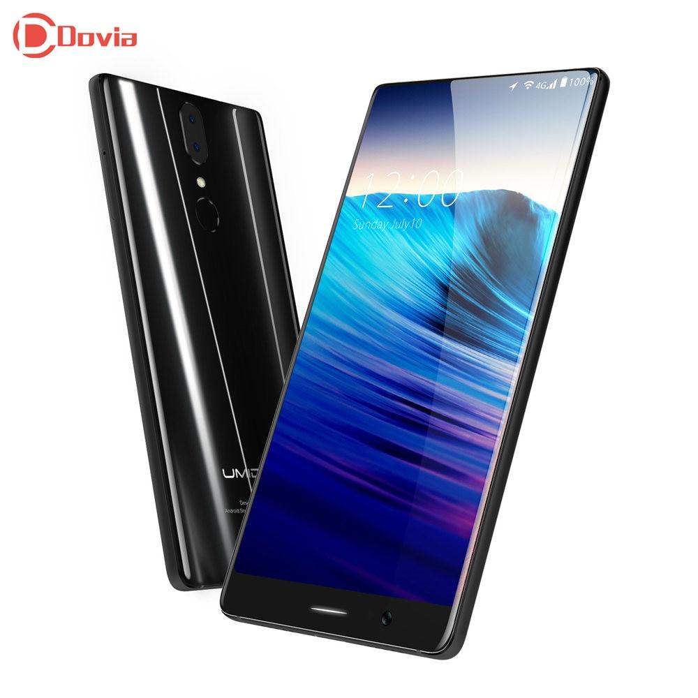 UMIDIGI Crystal 4G Smartphone 5.5 inch FHD MTK6750T Octa Core 4GB RAM 64GB ROM Fingerprint Scanner E-compass Type-C Mobile Phone