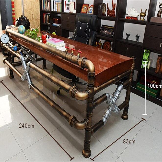 Американский промышленный чайный стол из трубы и клапана Лофт промышленный креативный винтажный стильная трубка Boss Table-J003