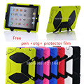 New life Tough Military Hard Rugged Heavy Duty ShockProof Dirt Proof Armor Silicone Rubber Case Cover For Apple iPad 2 3 4 +gift