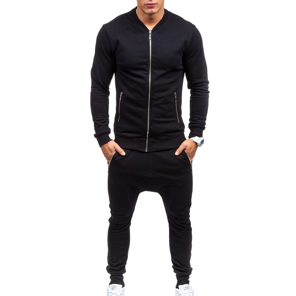Men Leisure Slim Sets New Fashion Male Autumn  Street Wear Style Cardigan Sweatshirts+pants Size 3XL