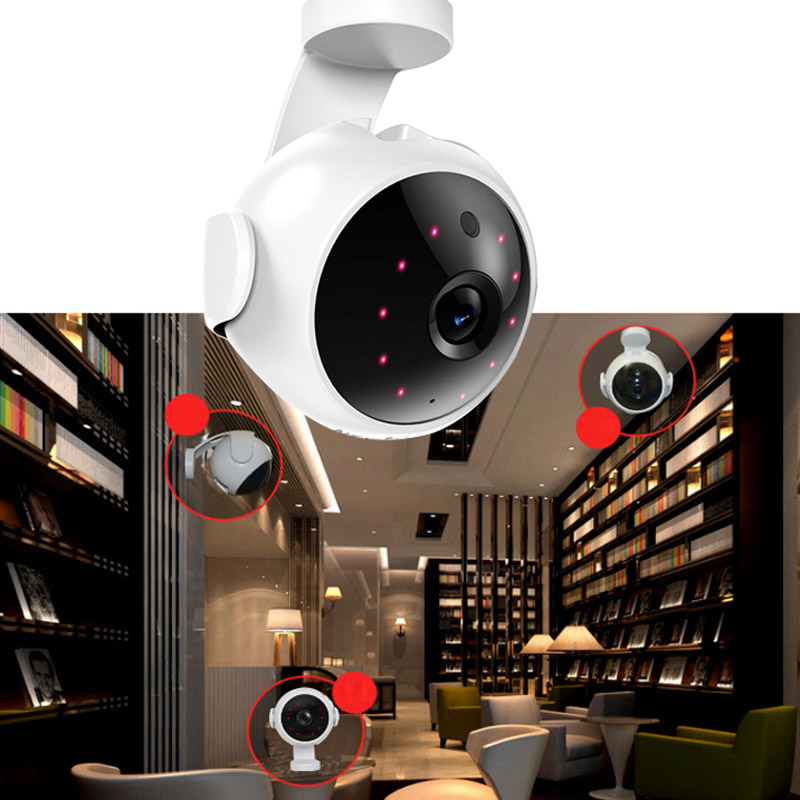 720P Wireless Wifi Video Camera with Two-Way Audio Night Vision Motion Detection Home Security Baby Monitor System LCC77