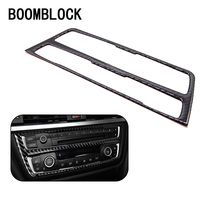 BOOMBLOCK Car Covers For BMW F30 F35 Accessories 3Series GT 320i Carbon Fiber Air Condition CD Panel Interior Stickers