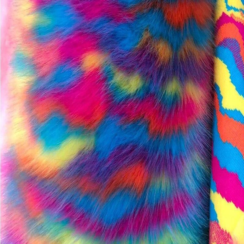 High Grade Faux Fur Fabric 3colours Choosing 3CM Long Hairy Imitation Fox Fur Fabric DIY Fur Collar Coat Decorative Materials