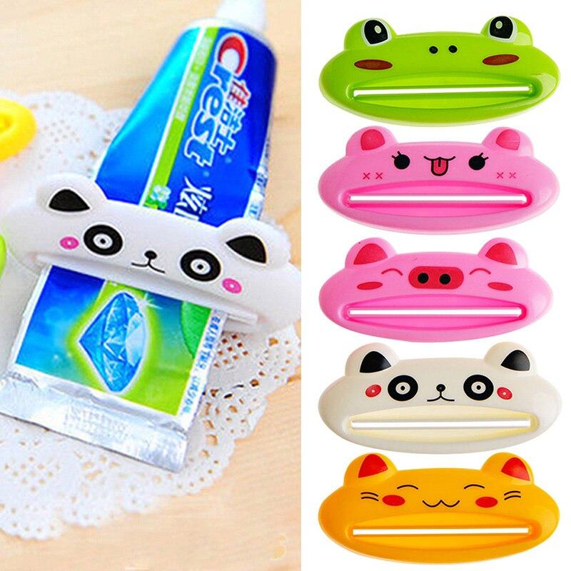 Cartoon Dispenser Squeeze Tube Squeezer Easy Press Zahnpasta Tube Dispenser Rolling Holder Badwerkzeuge Barukra