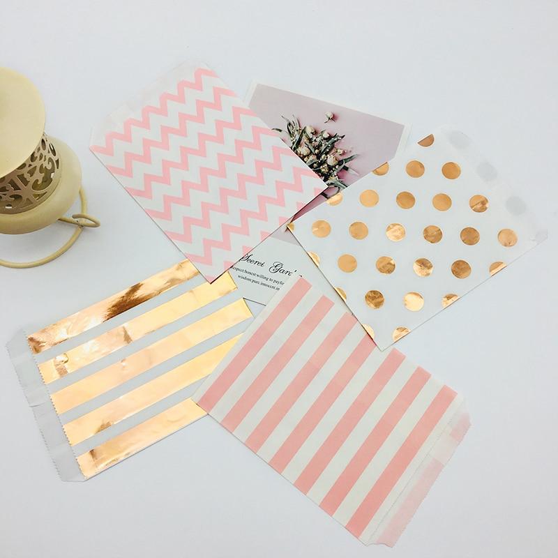 "Candy Polka Dot Spot  Stripe paper Sweet Gift  Party bags Weddings Birthday 5x7/"""