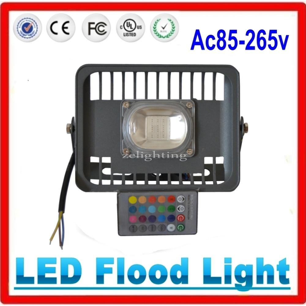 30W LED Flood light LED Floodlights RGB Outdoor Spotlight Waterproof IP65 AC85 256V Garden Light lamp phone lamp boy lamp e40 - title=