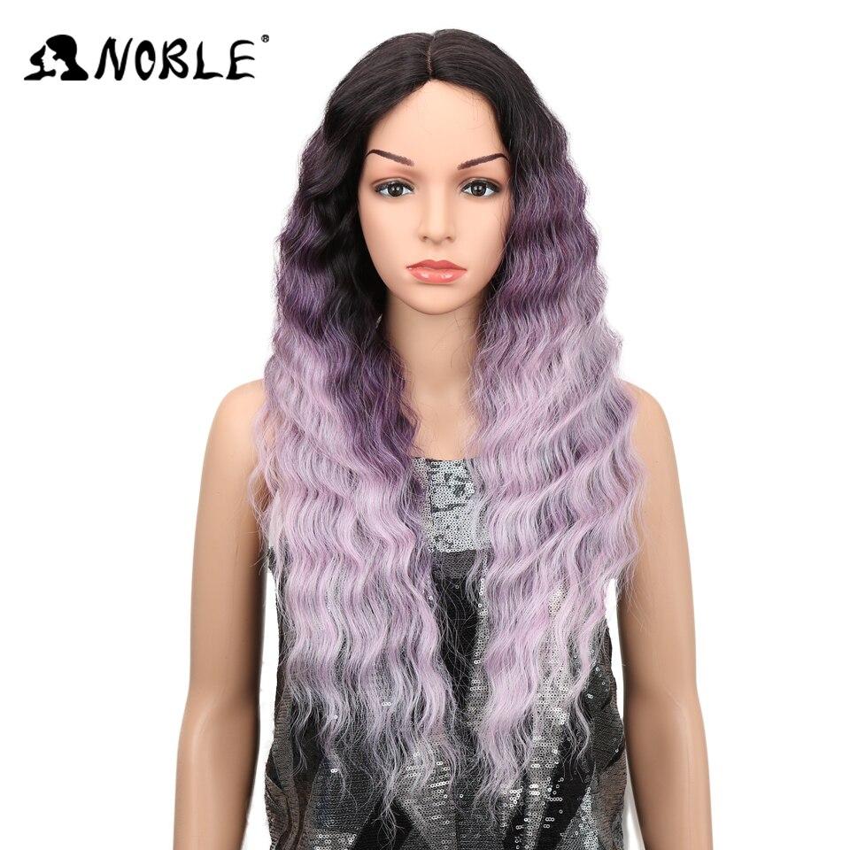 Благородный глубокий Волнистые Синтетические волосы на кружеве парики для Для женщин 28 дюймов жаропрочных волос Косплэй ежедневно носить ...