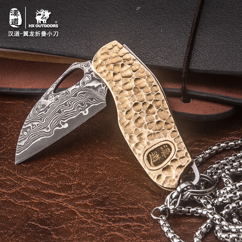 HX OUTDOORS high quality Damascus Folding Knife Pocket Knives hardness excellent knife decorate tool For man lady mini Outdoors цены онлайн