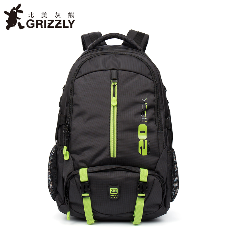 GRIZZLY Women Men Backpack Waterproof Travel Bags Multifunction Mochila Big Capacity School Bags Mountaineering Bags grizzly new fashion laptop men backpack for teenager boys multifunction mochila waterproof school bags large capacity travel bag