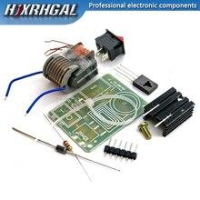 Высокочастотный генератор зажигания, 15KV DC, высоковольтный, дуговой, повышающий, 18650, DIY Kit, U-Core, трансформатор, набор 3,7 В