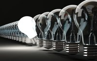 Idea Light Bulbs Light Shine On Off Home Decoration Canvas Painting Poster Wall Pictures