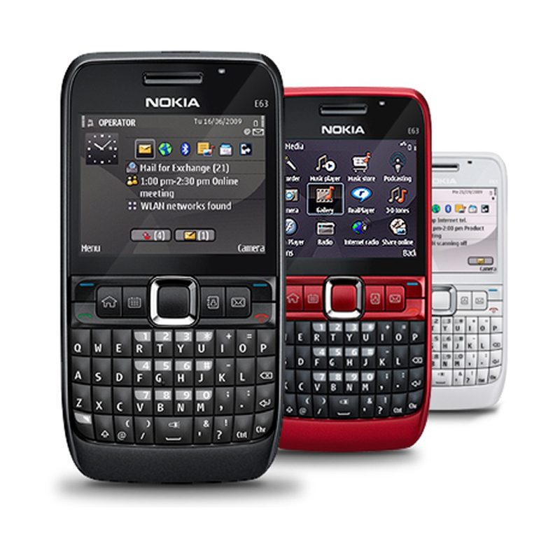 Refurbished Original NOKIA E63 Mobile Phone 3G Wifi Russian QWERTY Keyboard Unlocked