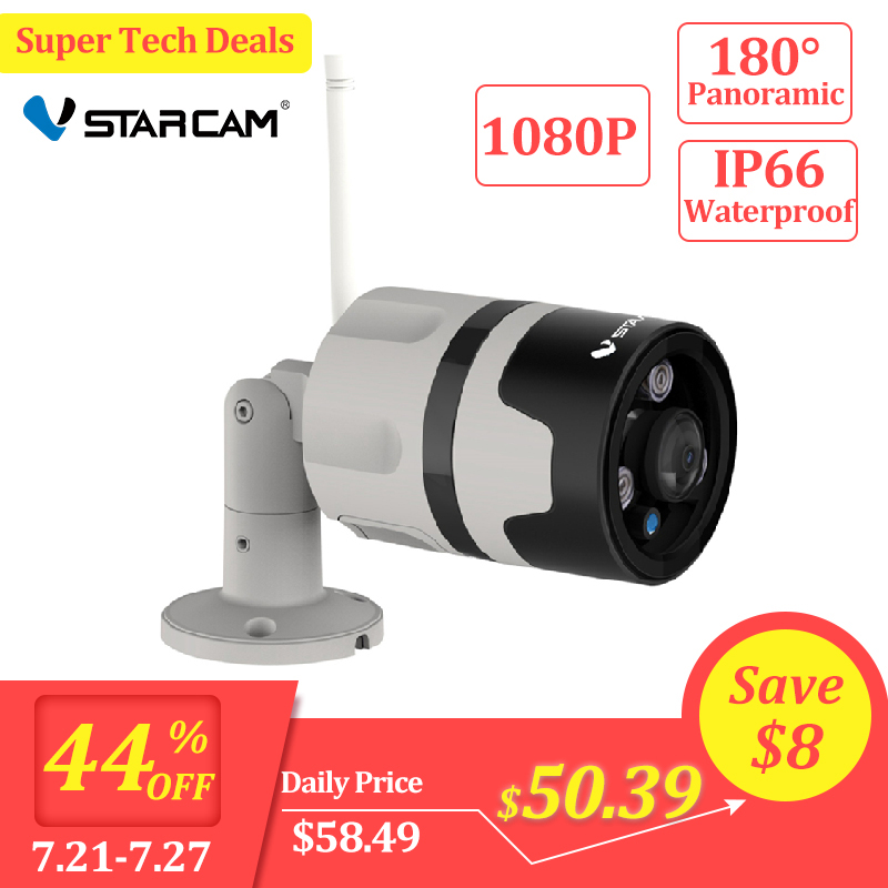 Vstarcam 1080P IP Camera Outdoor Wifi Camera IP66 Waterproof Motion Detection Night Vision Panoramic Bullet Camera