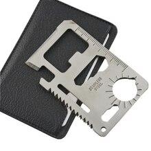 Многофункциональные pocket самообороны кредитная военная серебро выживания природе поставки карта нож
