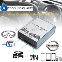 SITAILE USB SD AUX Car MP3 Music Adapter For Nissan Almera Maxima Teana Infiniti FX EX