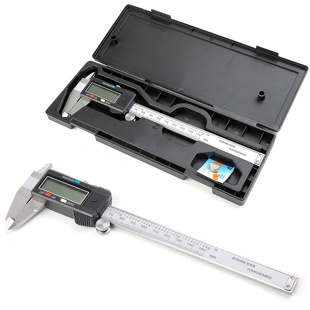 Digital Vernier Caliper 150mm/6inch With Box Stainless Steel Electronic Vernier Calipers Measuring LCD Paquimetro Micrometer T2 150mm 6inch electronic vernier caliper ip54 waterproof stainless steel digital caliper resolution 0 01mm measuring tool with box