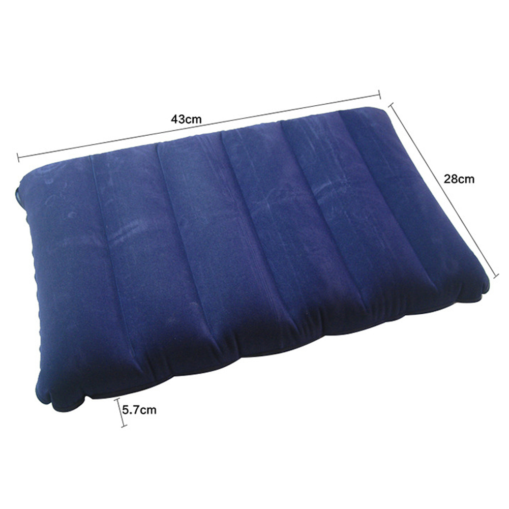 portable folding inflatable pillow air mattress one sided flocking cushion for outdoor travel camping picnic rest