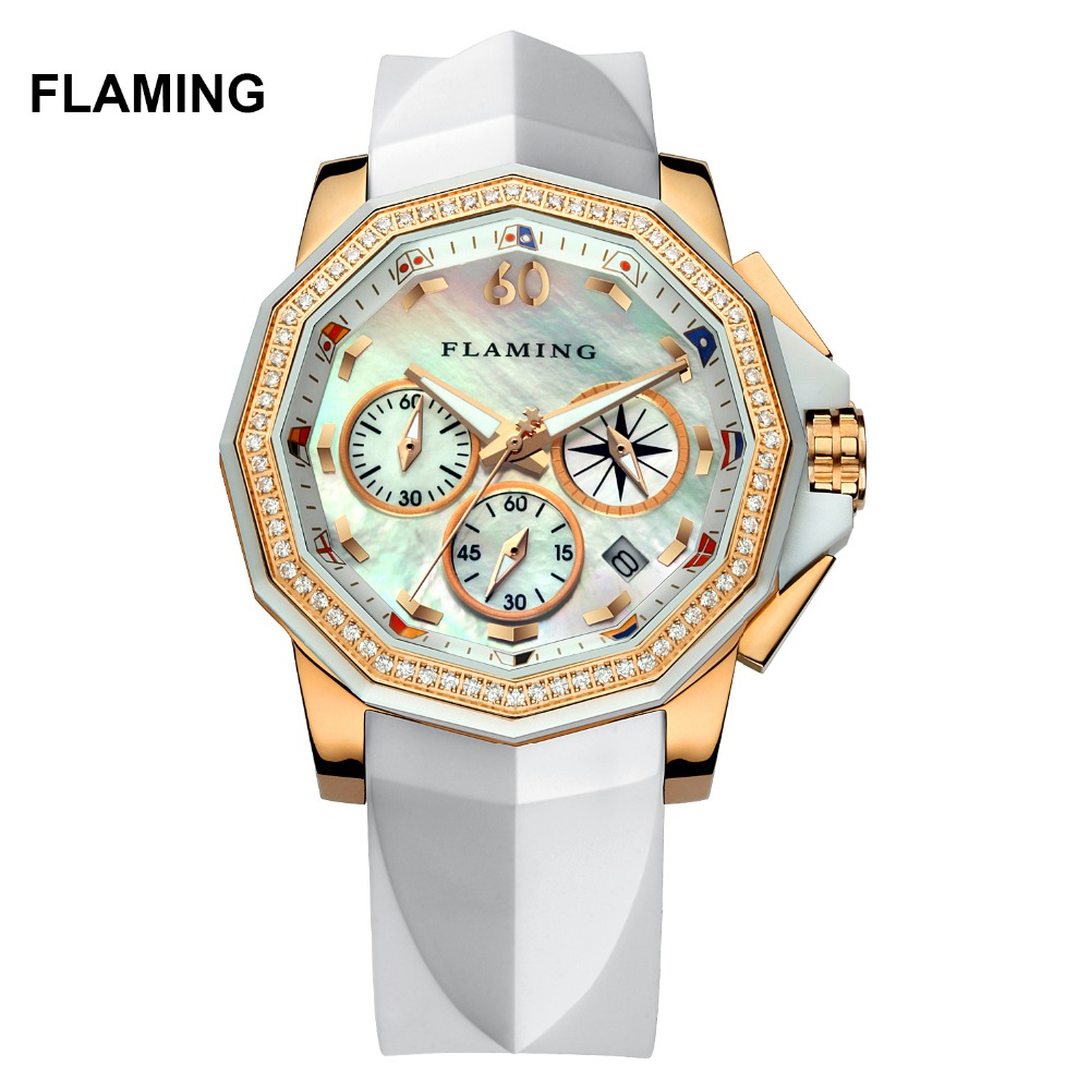 FLAMING FLAG Series High Quality 2 Models Miyota Quartz Watches Women Gold Wristwatches with Shell Dial Dress Watch Gifts flaming lips flaming lips this here giraffe ep