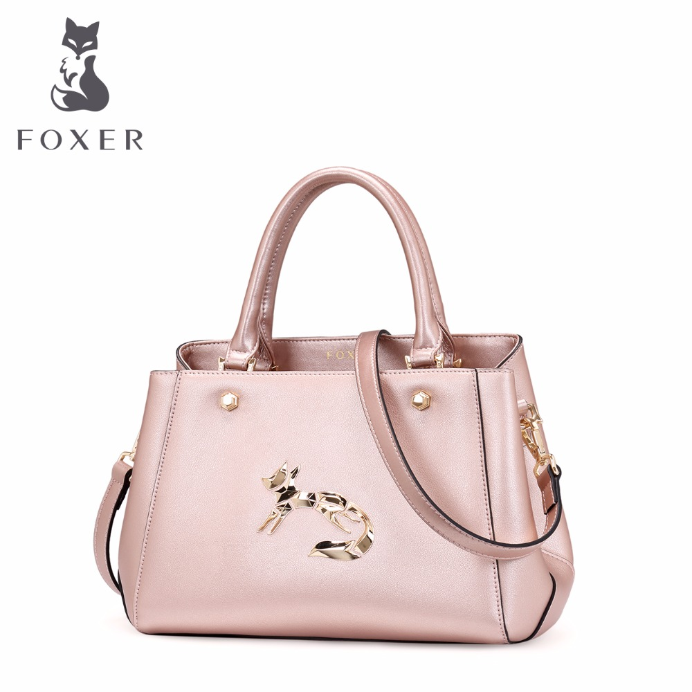 FOXER ladies luxury handbag women travel shoulder bag split leather designer handbags women messenger bags fashion cross body 2017 women leather handbag of brands women messenger bags cross body ladies shoulder bag luxury handbags designer s 83