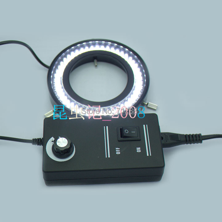 Adjustable 96 LED Ring Light For Microscope Ring Lamp Illuminator With Adapter High Brightness Free Shipping Wholesale led ring light for microscope sz 8 free shipping cost