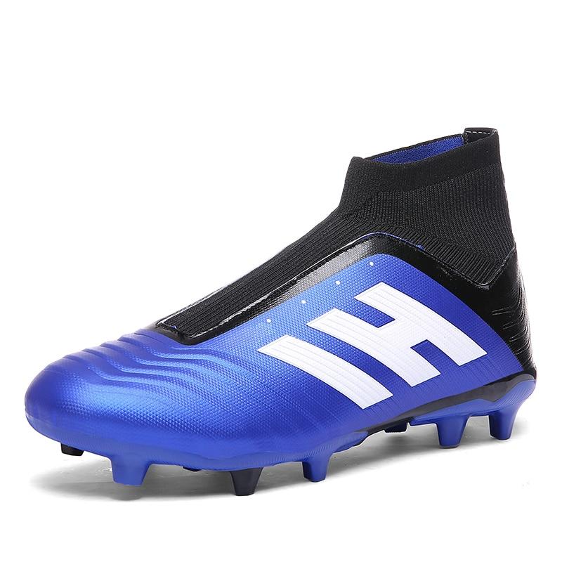 Hommes chaussures de Football crampons de Football bottes longues pointes TF pointes cheville haut baskets femmes chaussures de Football Futsal enfants