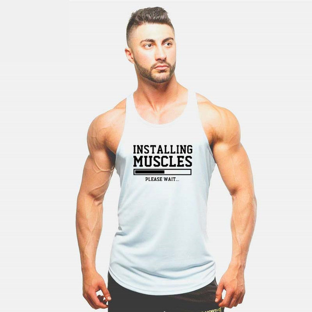 cec62a3bbbb28 2018 New INSTALLING MUSCLES funny print mens shirts LIFTBRO WORKOUT SLOGAN  BIRTHDAY Tank top More Size and Colors big
