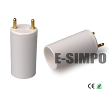 Fluorescent T8 to T5 endcap converter, T8-T5 adapter, T5  Lamp Holder to T8 lamp Base converter, CE Rohs Z1066