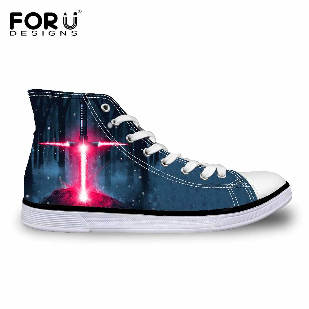 forudesigns fashion lightsaber wars printed high top