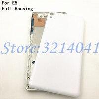 Marco de placa frontal media para Sony Xperia E5 f3311 f3313 placa media LCD soporte marco bisel carcasa + pieza de tapón de polvo de llave lateral|Marcos y carcasas para teléfonos móviles| |  -