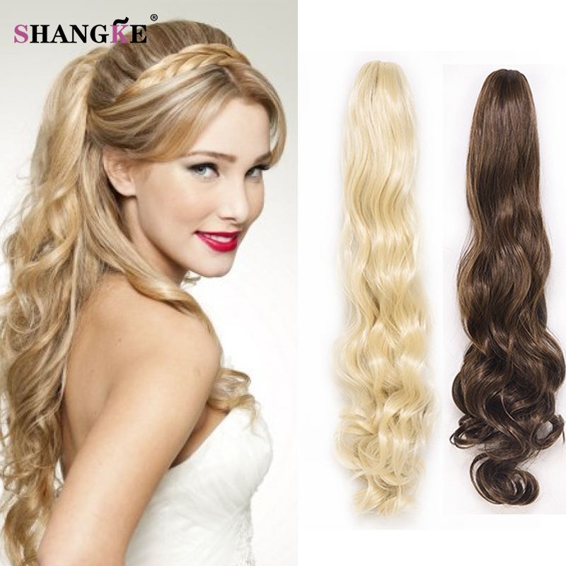 Long Wavy Claw Ponytail Multi Color Hairpieces Long Curly Hair Tail
