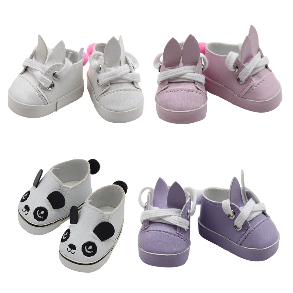 1Pair Fashion Mini Cartoon Toy Shoes For 14.5 Inch Doll For EXO Dolls Fit As For BJD Ragdoll Accessories 5*2.8cm