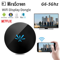 G6 5G Android TV Stick Adapter for /Netflix YouTube Chrome Cast Mirascreen Miracast HDTV Android wifi Display Dongle