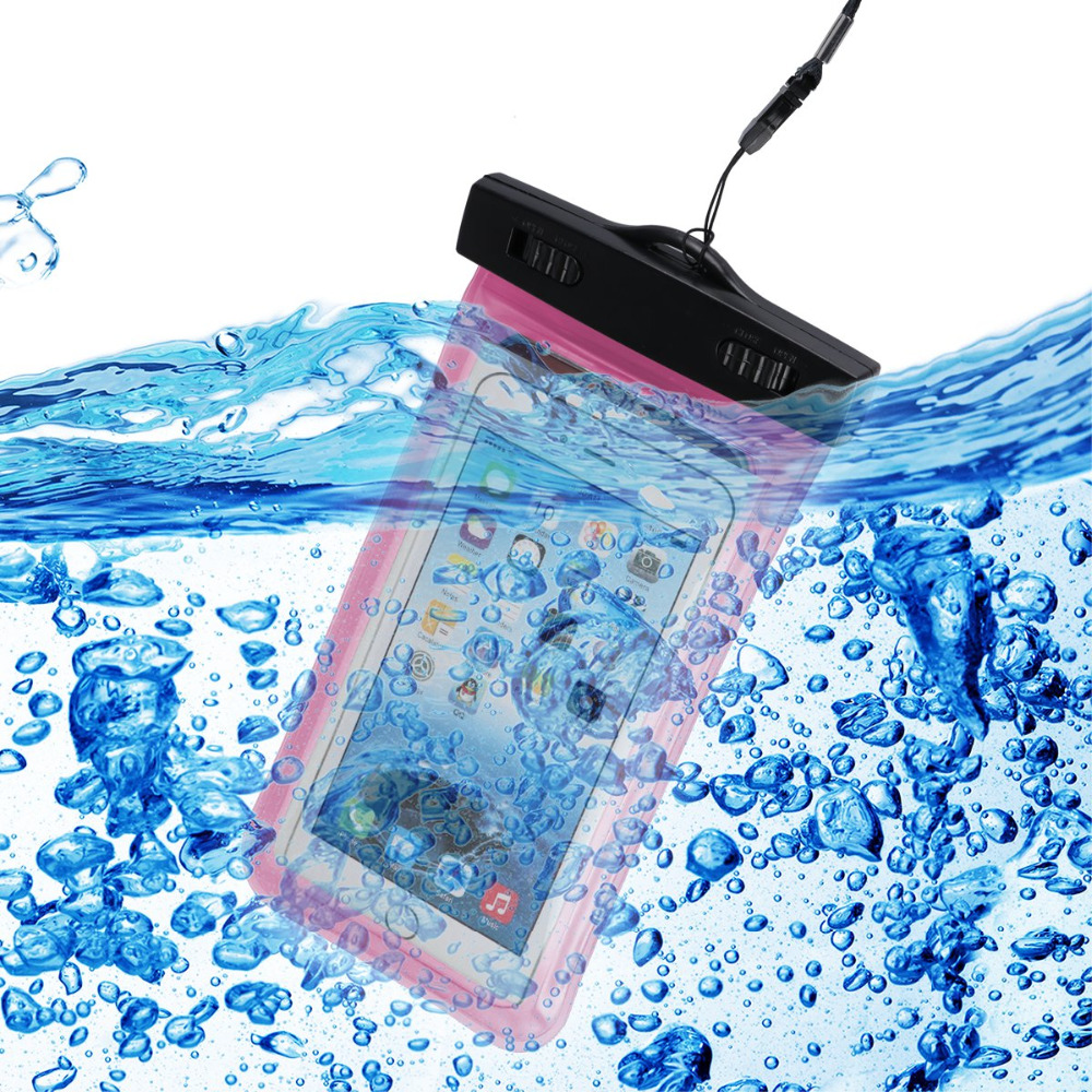 10PCS/LOT 18x10.5cm Transparent Waterproof Underwater Pouch Dry Bag Case Cover For iPhone 7 Cell Phone Touchscreen Mobile Phone