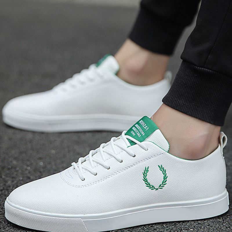 Erkek ayakkabısı bahar sonbahar rahat imitasyon deri düz ayakkabı dantel-up düşük üst erkek Sneakers tenis masculino adulto ayakkabı NanX45