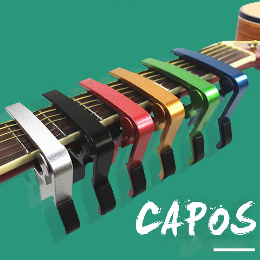 Guitare électro-acoustique Capo à changement rapide Clamp Key Acoustique guitare classique Capo Tuning Clamp Accessoires pour instruments de musique