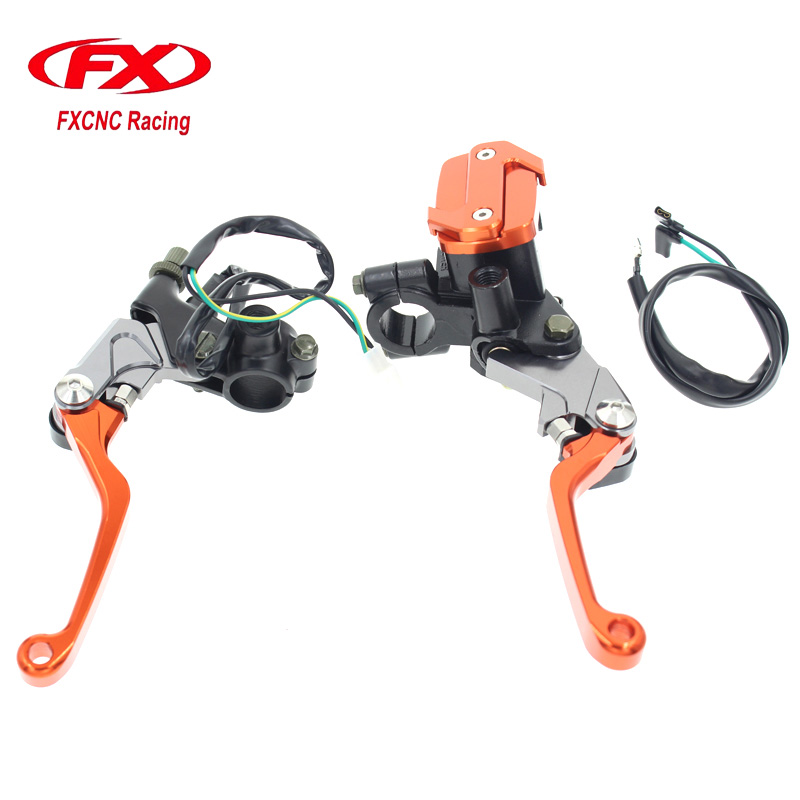 FX CNC Motorcycle Hydraulic Master Cylinder Brake Cable Clutch Levers For YAMAHA YZ80 YZ85 YZ125 YZ250 YZ250F YZ426F YZ450F 7 8 22mm brake hydraulic master cylinder kit reservoir levers for yamaha yz 80 85 wr 250f 450f 250r x ttr 600 125 serow 225 250