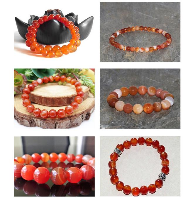 Natural Stone Round Faceted Red Carnelian Beads For Jewelry Making Strand 15