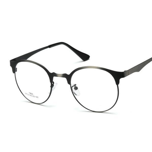 1dc7238805ec0 2019 Brand Glasses Retro Vintage Fashion Metal Half Frame Optical Frame  Reading Glasses Men Women Round Myopia Eyeglasses Frame