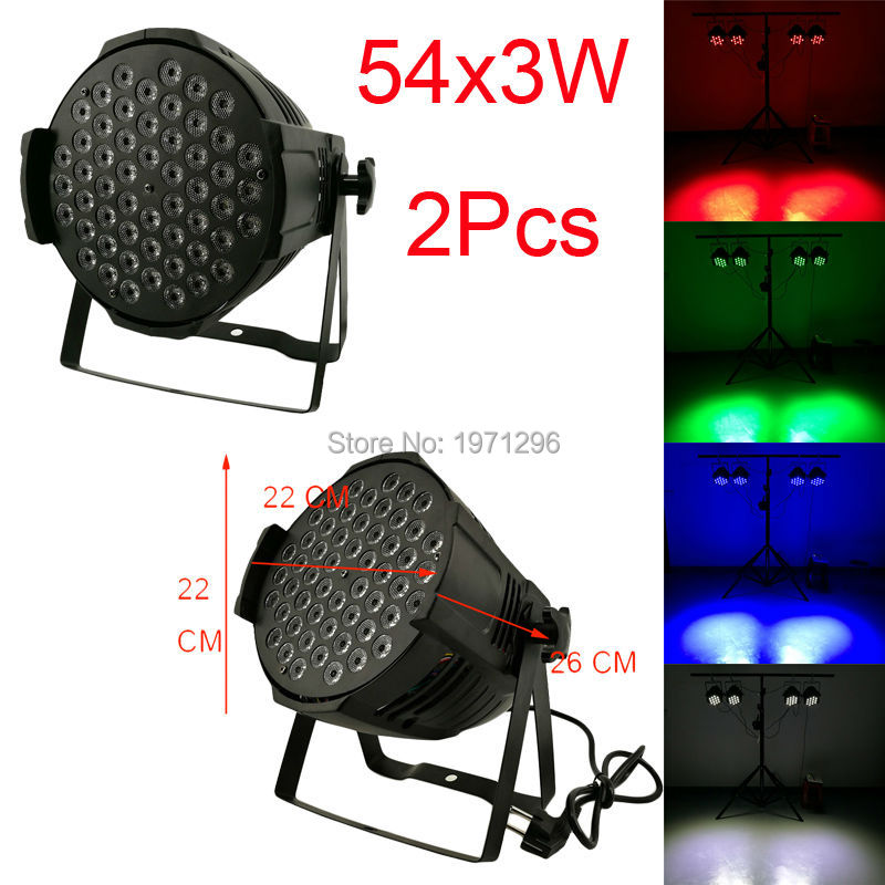2pcs/lot 2016 hot new free shipping par led rgbw 54x3w led wash dmx dj disco bar stage effect party lamp light 12R/14G/14B/14W 2pcs dj disco par led 54x3w stage light dmx strobe flat luces discoteca party lights laser rgbw luz de projector lumiere control