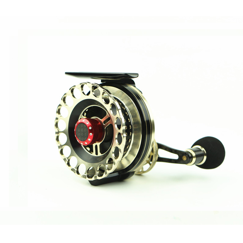 Fishing Reel Black Sliver With Spool Metal Left Right Hand Bait Casting Fly Fishing Wheel Soft Plastic Handle Fresh Salt Water hlw 19bb brand saltwater fishing baitcasting reel left right hand metal spool handle bait casting reel fishing reel carbon reels
