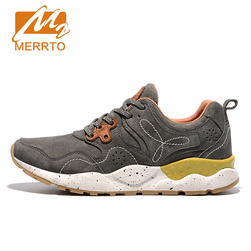 MERRTO Breathable Leather Running Shoes Outdoor Sports Women Running Sneakers Outdoor Sports Athletic Shoes Zapatos De Hombre