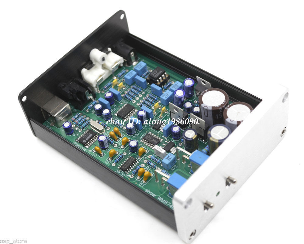 Finished WM8740 DIR9001 DAC Board Support Coaxial and USB Input Dual Op Amp RC5532DD Decoder