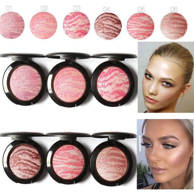 FOCALLURE  Makeup Cheek Blush Powder Face Bronzer Blushes Powder Cosmetic Natural Base Makeup Highlighter Face Contour Blush