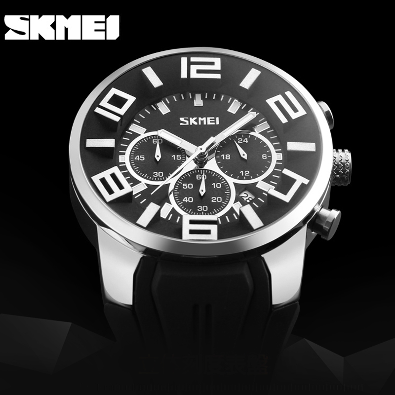 2016 Skmei Stopwatch Fashion Sport Mens Watches Top Brand Luxury Military Quartz Watch Clock Relogio Masculino Reloj Hombre skmei 6911 womens automatic watch women fashion leather clock top quality famous china brand waterproof luxury military vintage