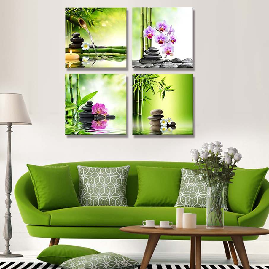 aliexpress : buy module pictures 4 panels stretched and framed