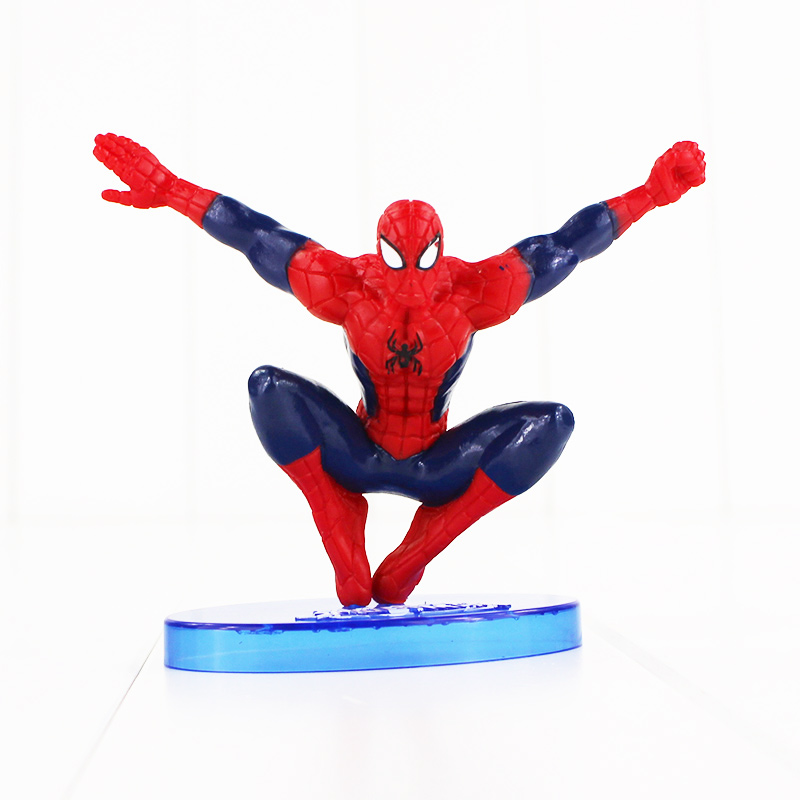 1Pcs New arrival Cool Spider-Man Figure The Spiderman Spider Man PVC Action Figure Toys 9cm Great Gift Free shipping free shipping the avengers the amazing spider man movie spiderman will light 17cm pvc action figure toys new christmas gifts