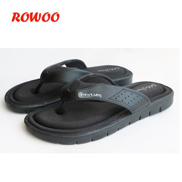 5b6245dba51e Online Shop 2019 Summer Fashion Mens Flip Flops Anti-slip Black Male Sandals  Comfortable Classic Beach Slippers For Men Slides Memory Foam