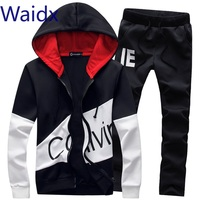 Waidx Men Sets Sport Suit Tracksuit Outfit Suit 5xl 2 Piece Set Suits Hoodies & Long Pants Warm Mens Clothing Drop Shipping