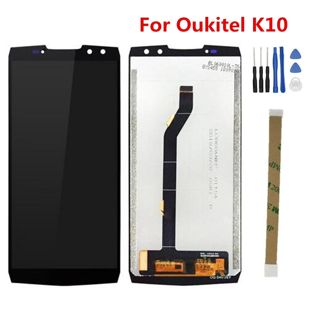 New For Oukitel K10 6.0inch 2160*1080 LCD Display+Touch Screen Digitzer Assembly Repair Replacement Glass For Oukitel K10 Phone-in Mobile Phone LCD Screens from Cellphones & Telecommunications    1