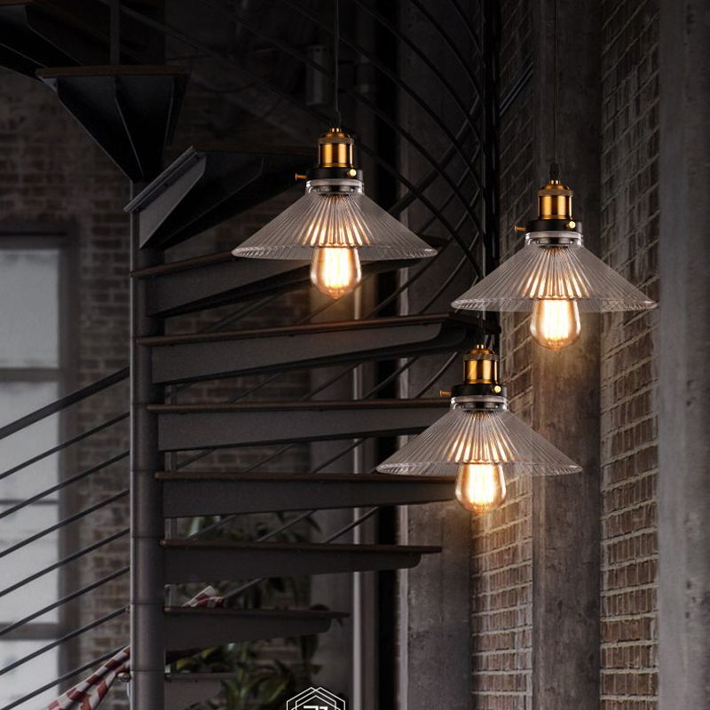 Restaurant bar lamp American Bar coffee shop Pendant lamp creative personality single Glass Pendant Light study Modern Led Lamp zx modern round acryl pendant lamp simple restaurant led chip droplight single head study bar shop office lamp free shipping